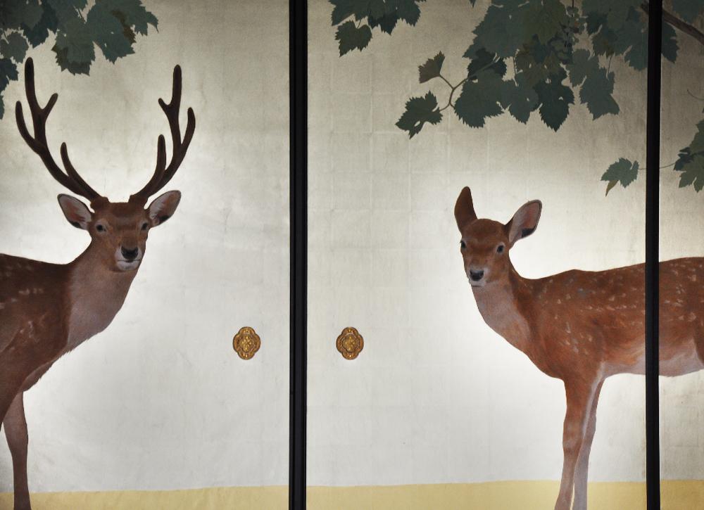 京都旧百々御所宝鏡寺-人形寺-『葡萄と鹿』河股幸和